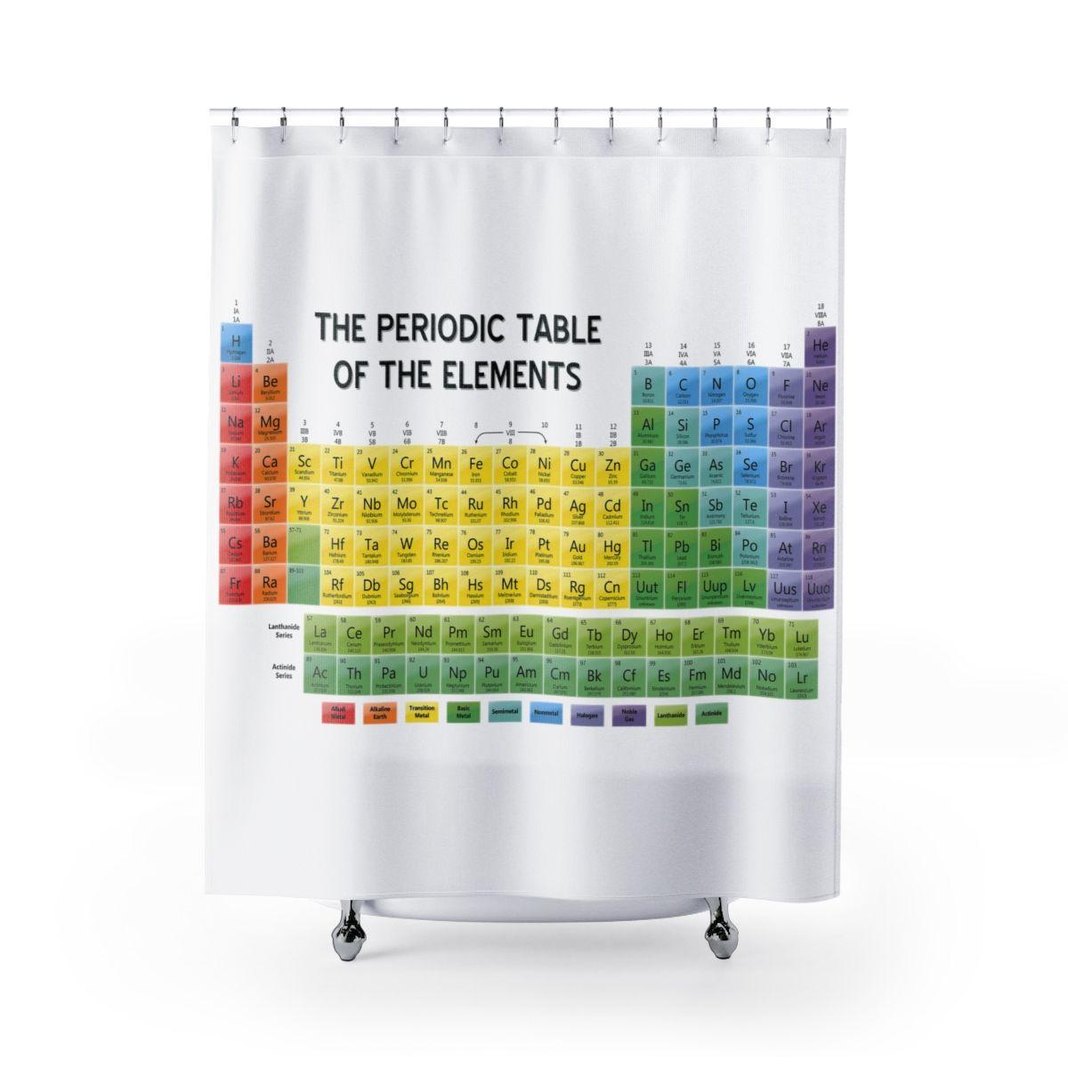 periodic table shower curtain aline art