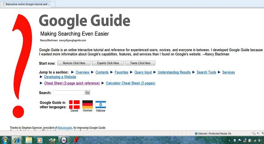 Google Guide Tutorial Family Information Google Website Tutorial