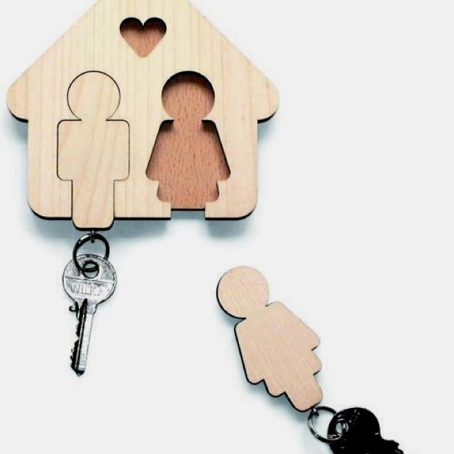 Cute key holder:) want this