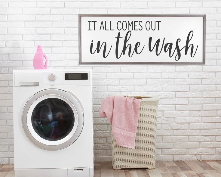 Laundry Room Sign Laundry Room Wall Decor It All Comes Out In