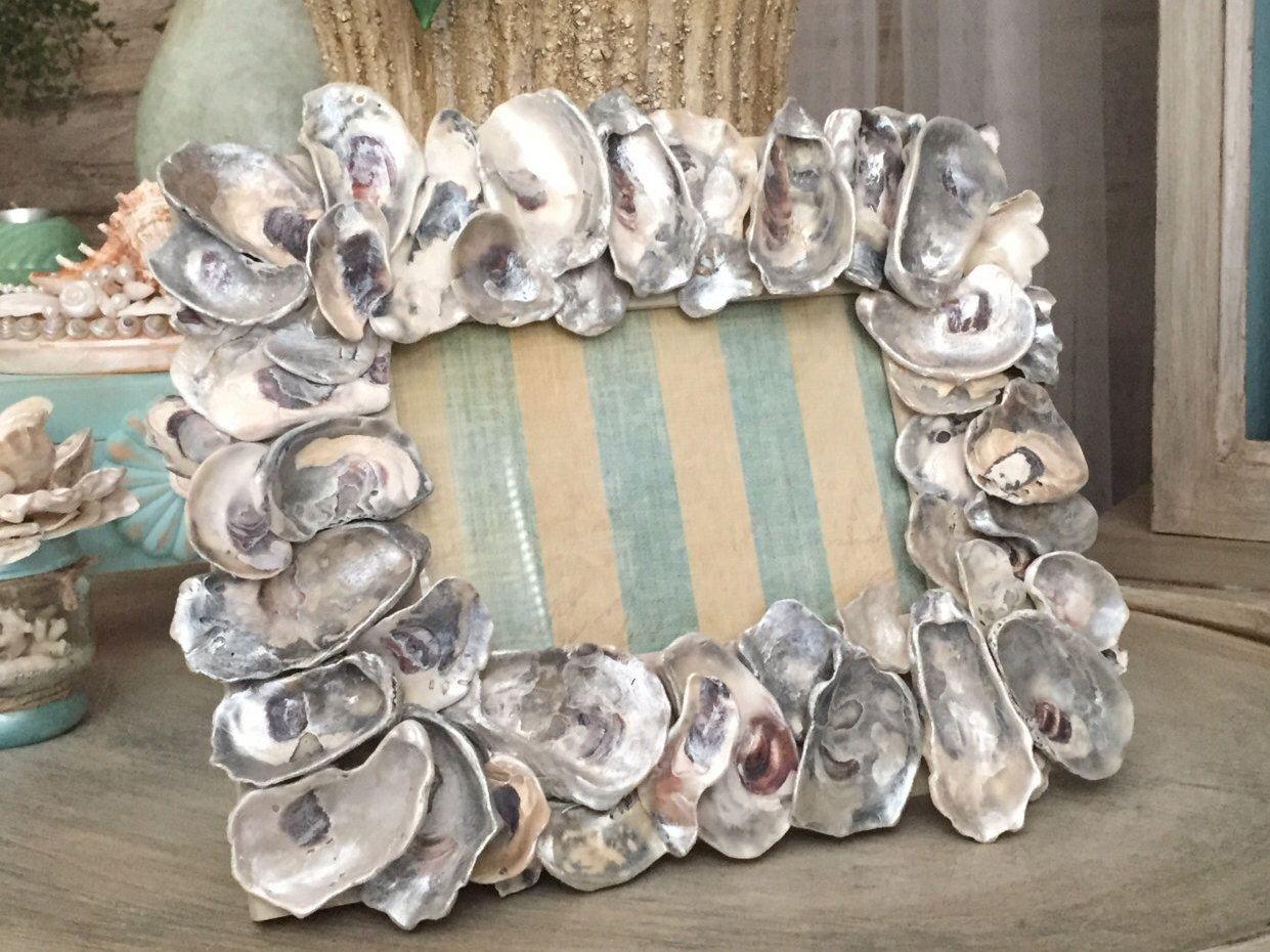 5 X 7 Frame Oyster Shell Photo Frame Seashell Photo