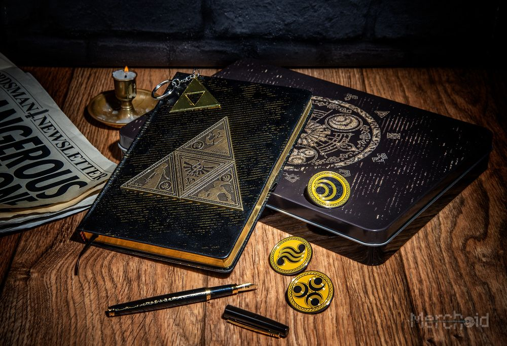 Legend Of Zelda From The King's Desk Triforce Stationery