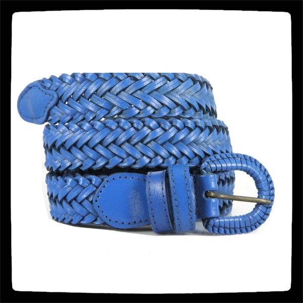 749d50376df Jolie ceinture bleu femme et homme en cuir véritable naturel et artisanale.  Tendance
