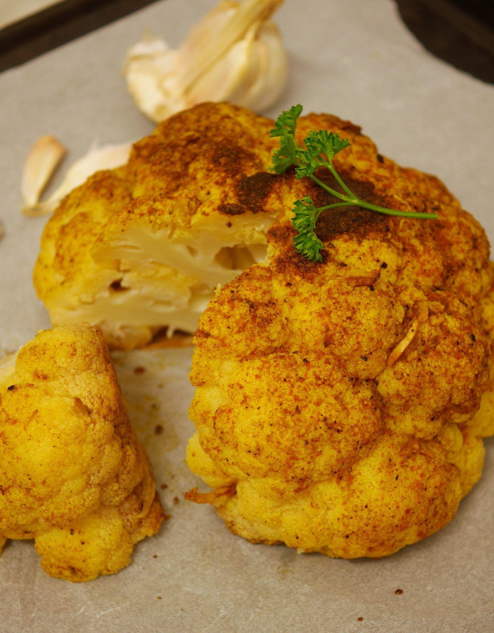 Chou Fleur Roti Aux Epices Recette Chou Fleur Roti Plat Vegetarien Et Chou Fleur