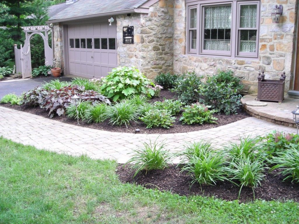 Landscaping Ideas Garage Area : Front walk landscape idea garden and landscaping ideas classic