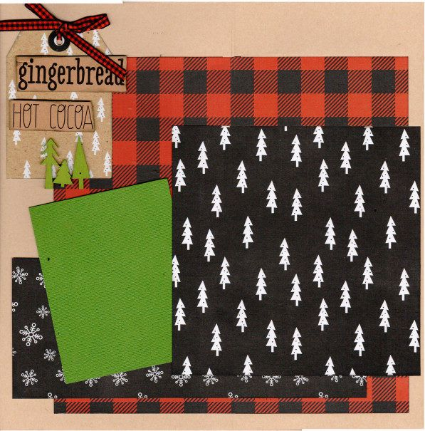 Gingerbread And Hot Cocoa Scrapbooking Layout Kit Christmas 2