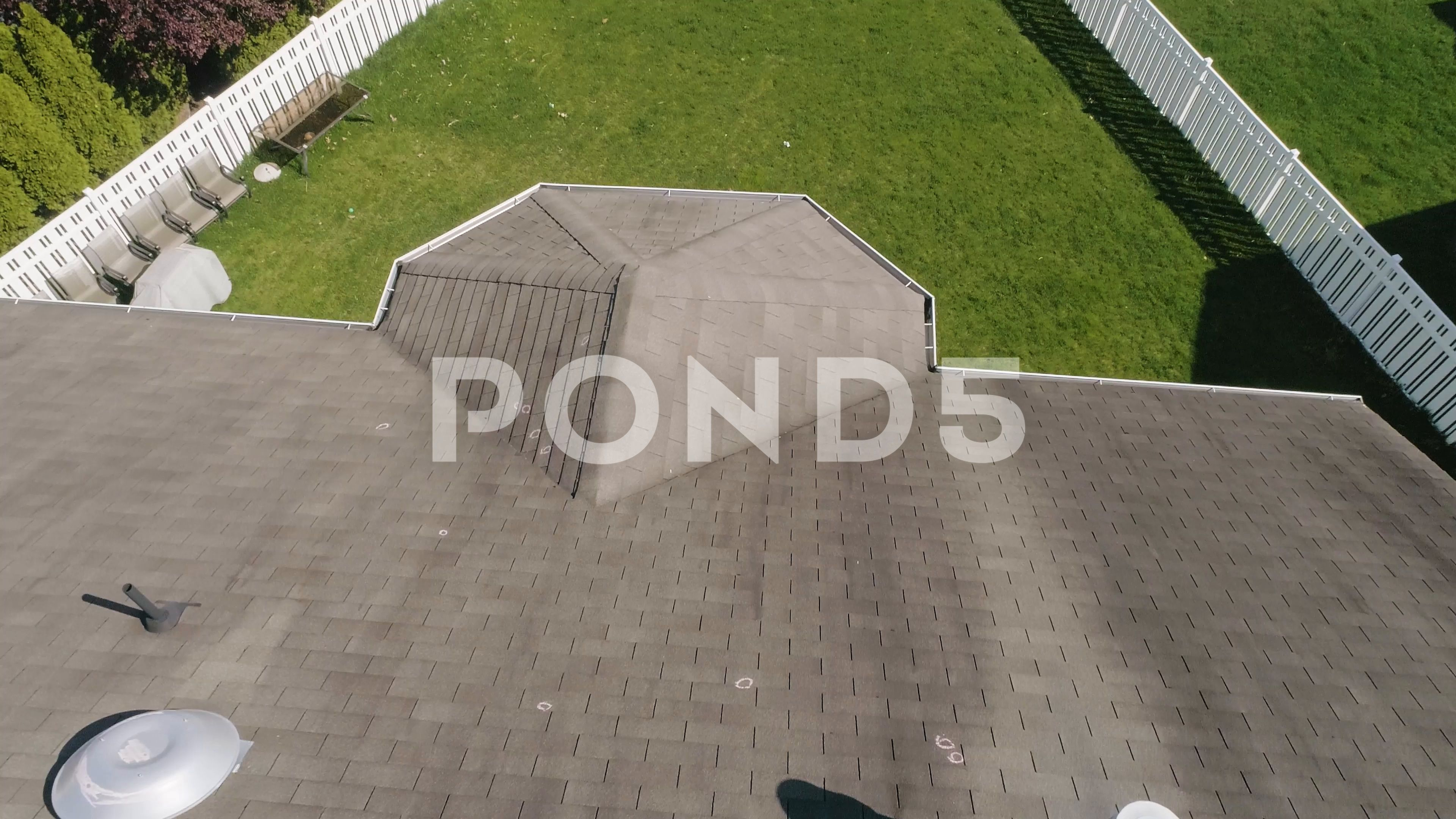 Aerial Drone Of A Residential Roof Inspection With Hail Damage Markings Stock Footage Ad Roof Inspection Residentia Roof Inspection Aerial Drone Residential