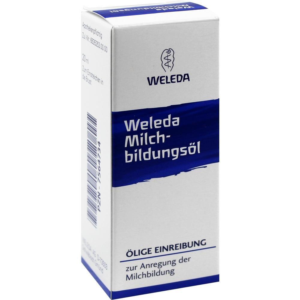 MILCHBILDUNGSÖL:   Packungsinhalt: 20 ml Einreibung PZN: 07564734 Hersteller: WELEDA AG Preis: 8,08 EUR inkl. 19 % MwSt. zzgl.…