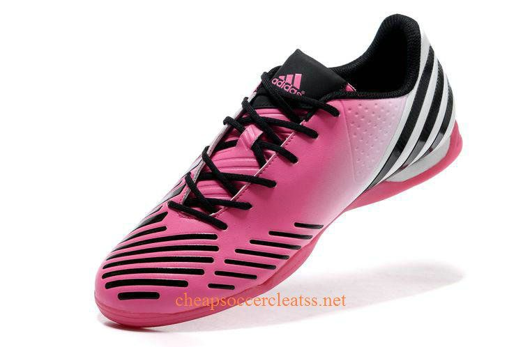 adidas Predator LZ IC Indoor Soccer Shoes Pink White Black