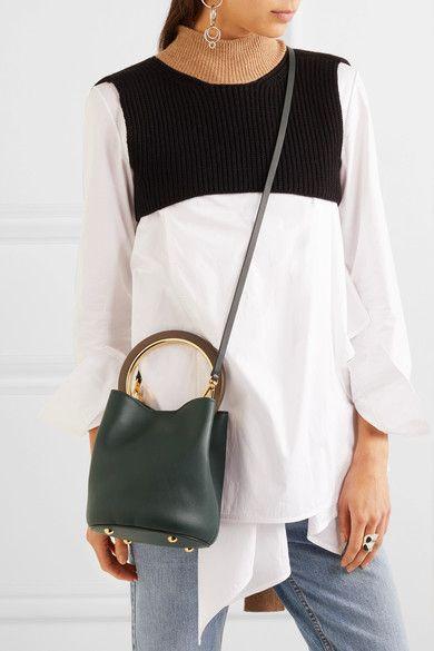 b1e8571b7 Marni | Pannier leather mini bucket bag | NET-A-PORTER.COM | BAGS ...