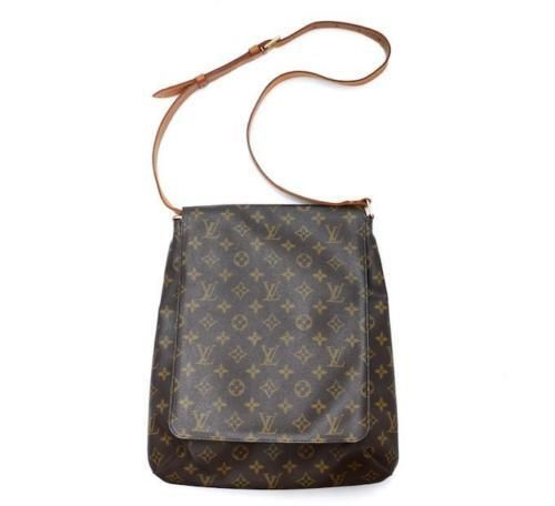 afdbbb4c154c Louis Vuitton Musette Salsa Gm Sd0061 Extra Large Brown Monogram Cross Body  Bag.