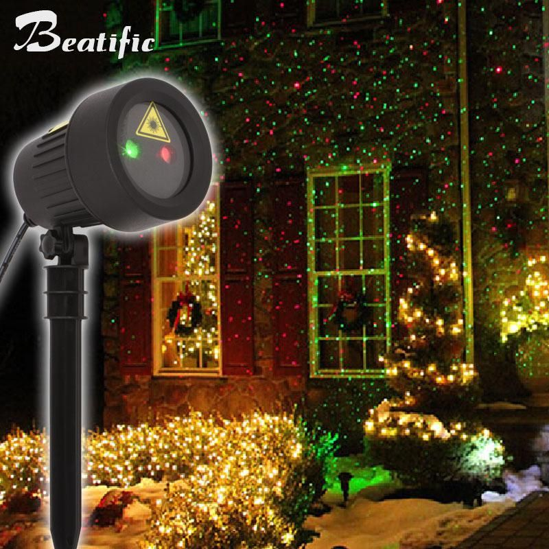 Outdoor Christmas Stars Light Projector Static Effect Show Red Green Laser Lights Christmas Decorations For Home Holiday Lights Outdoor Outdoor Holiday Decor Outdoor Christmas Lights