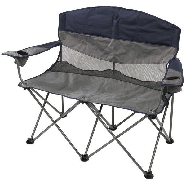 2 Person Outdoor Double Camping Camp Fire Pit Chair Seat Bench Patio  Furniture