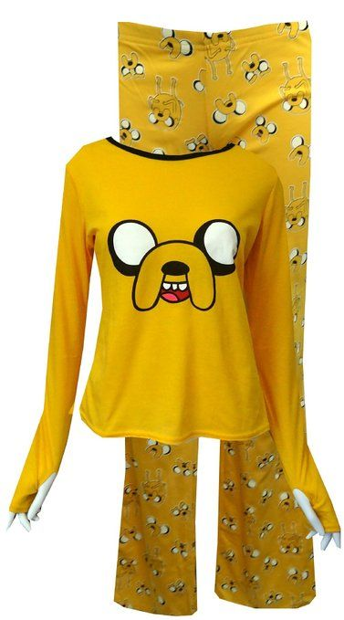 949496702f Adventure Time Jake The Dog Pajamas for women (Large)