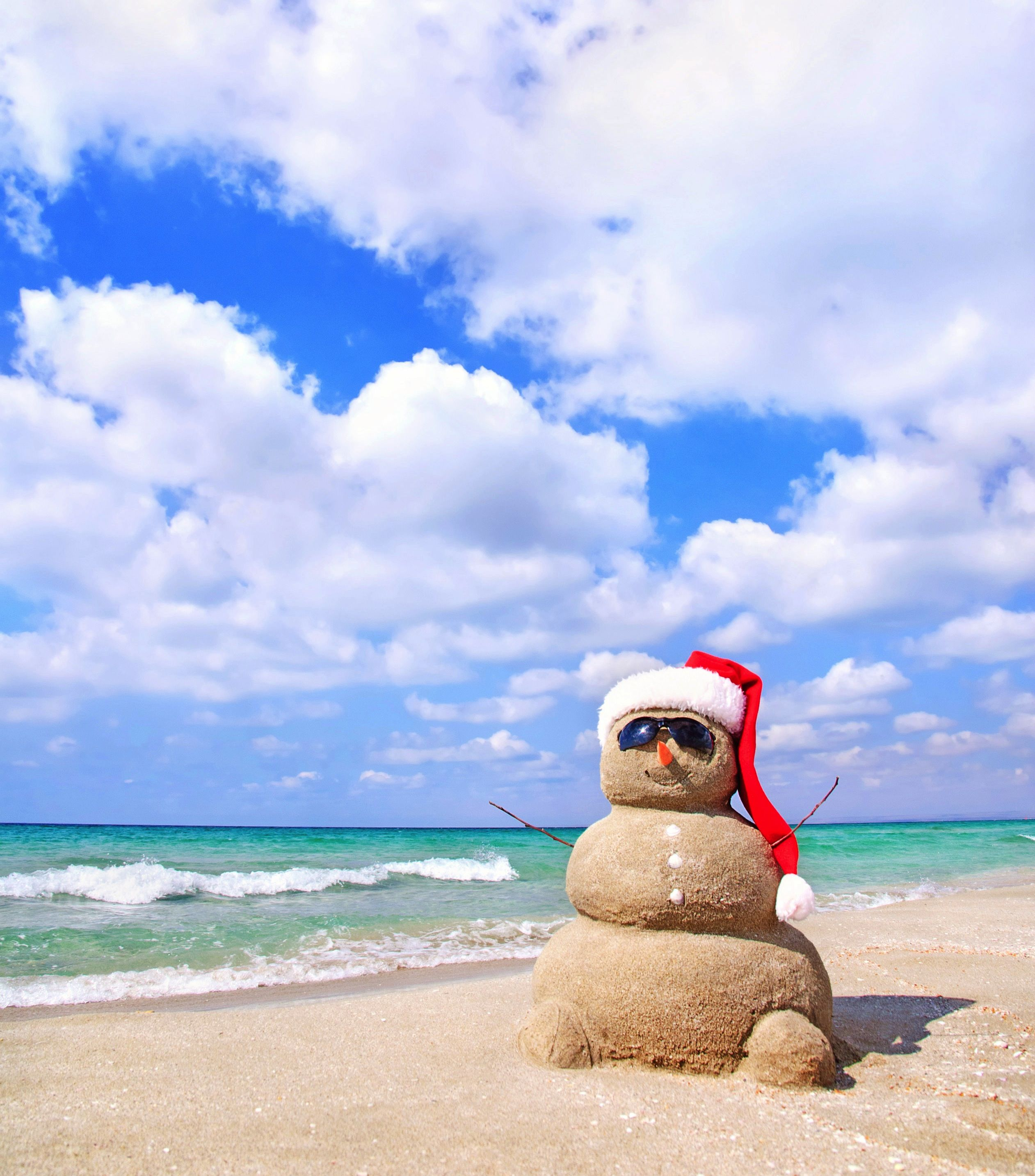 Frosty's cousin, Sandy, chillin' at the beach. #CheapCaribbean