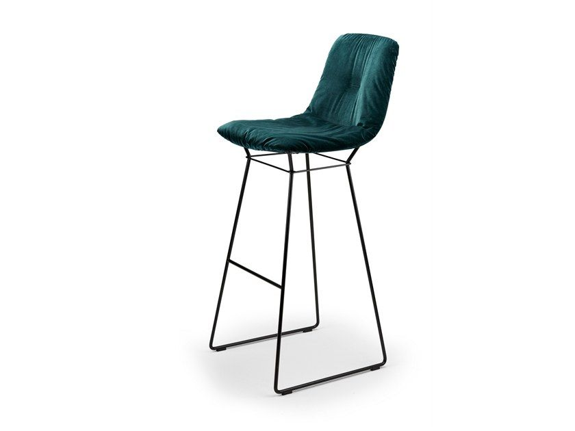 Sgabello alto in tessuto leya barstool high by freifrau dining