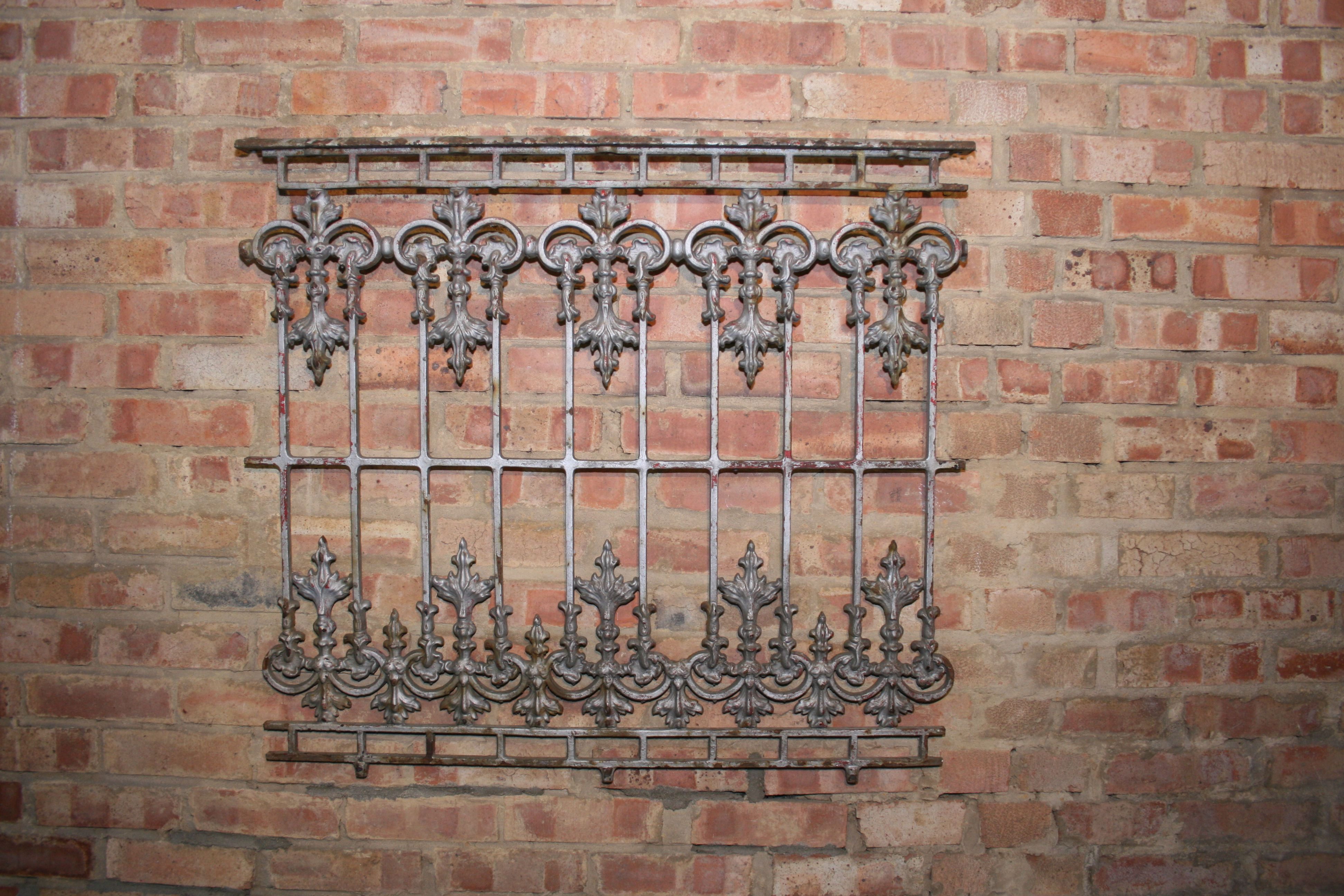 Antique 19th Century Cast Iron Railing By Coalbrookdale