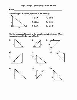 Right Triangle Trigonometry Worksheet Answers ...