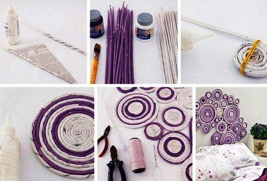 Kreative Wandgestaltung Und Bastelidee Mit Papier Für Coole Schlafzimmer  Wanddeko