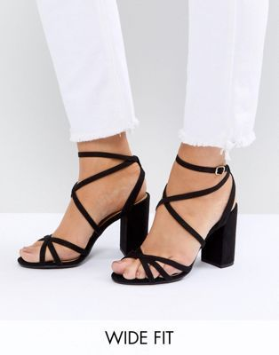 clearance for nice popular for sale New Look Wide Fit Multi Strap Block Heel Sandal prices for sale low price 2x3gWNGONJ