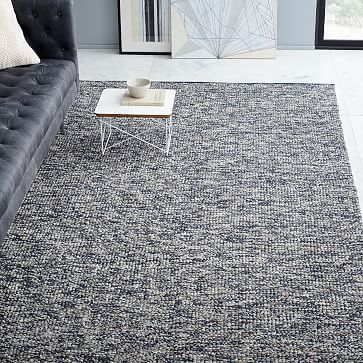 Looped Texture Wood Rug Midnight 9 X12