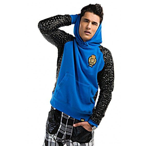 Billy Boyce - Electric Blue McMilian Hologram Hooded Sweatshirt