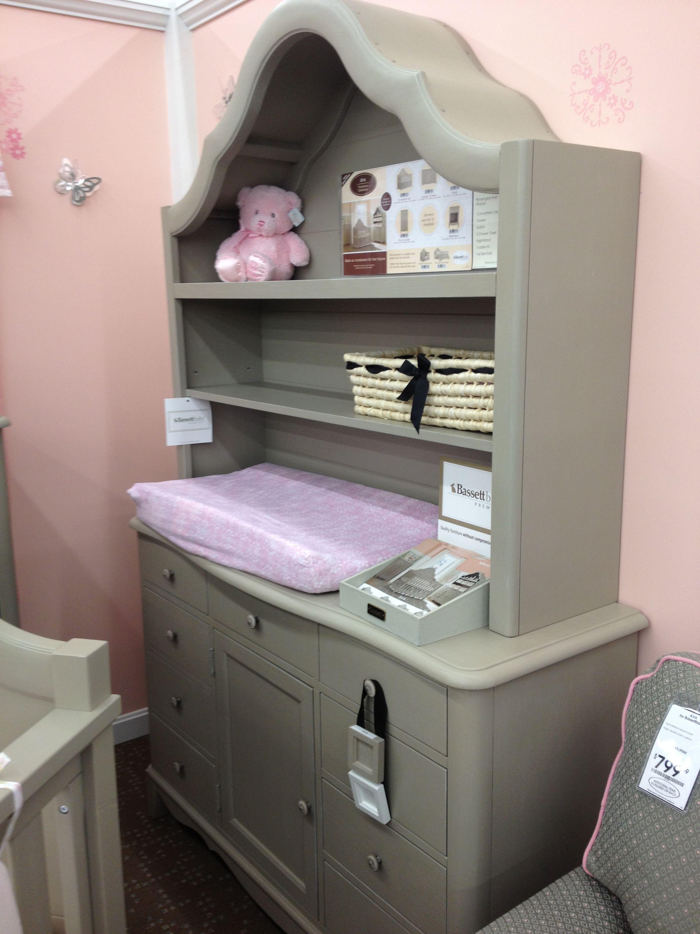 Gray Bookshelf, Dresser/Changing Table Combo - Buy Buy Baby ...