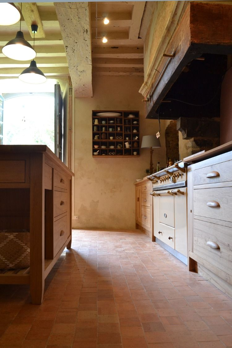 Bespoke Oak Kitchen For A French Manoir Makers Furniture Freestanding Kitchen Freestanding Kitchen Island Cheap Kitchen Cabinets