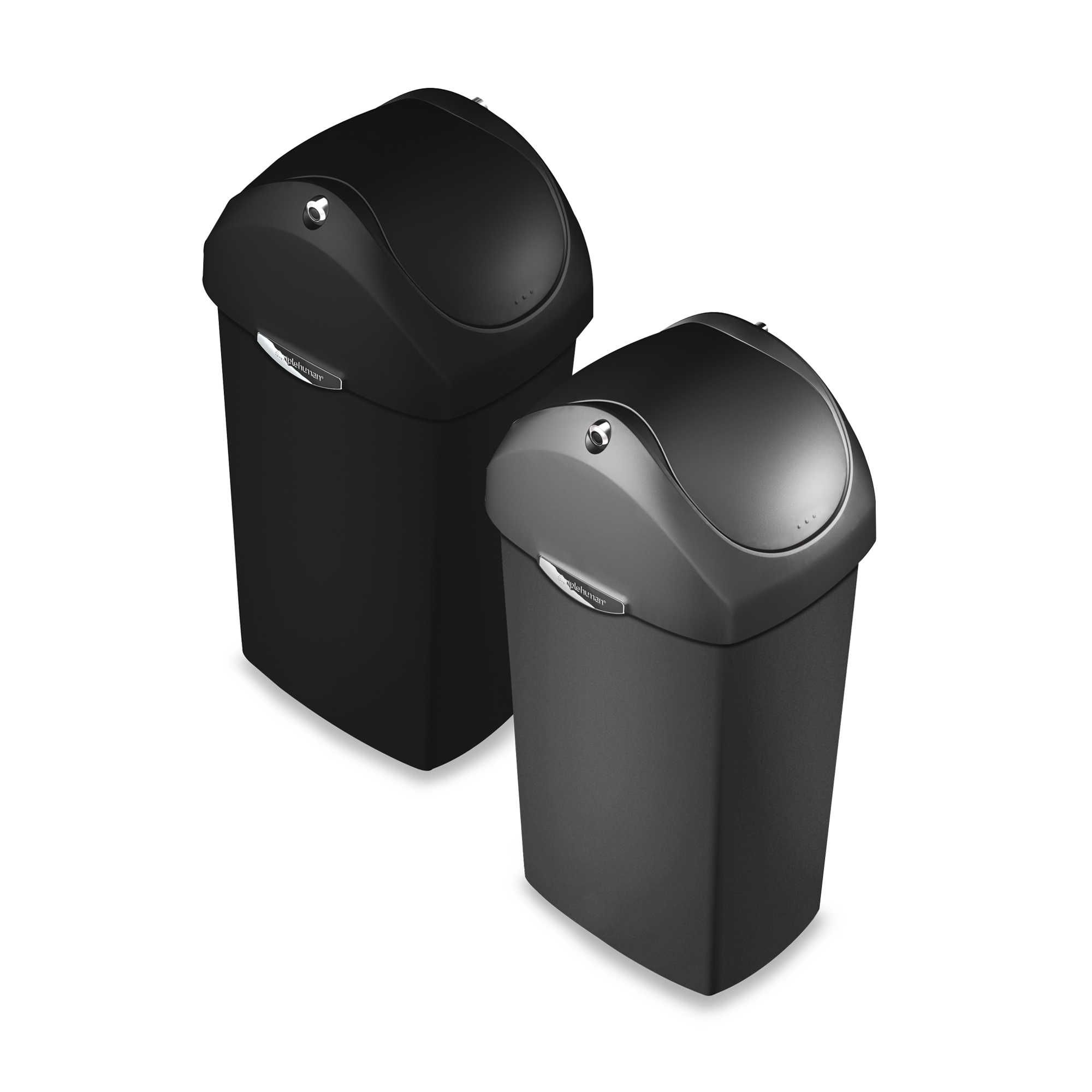 Best Simplehuman® Plastic Swing Lid 60 Liter Trash Can 400 x 300