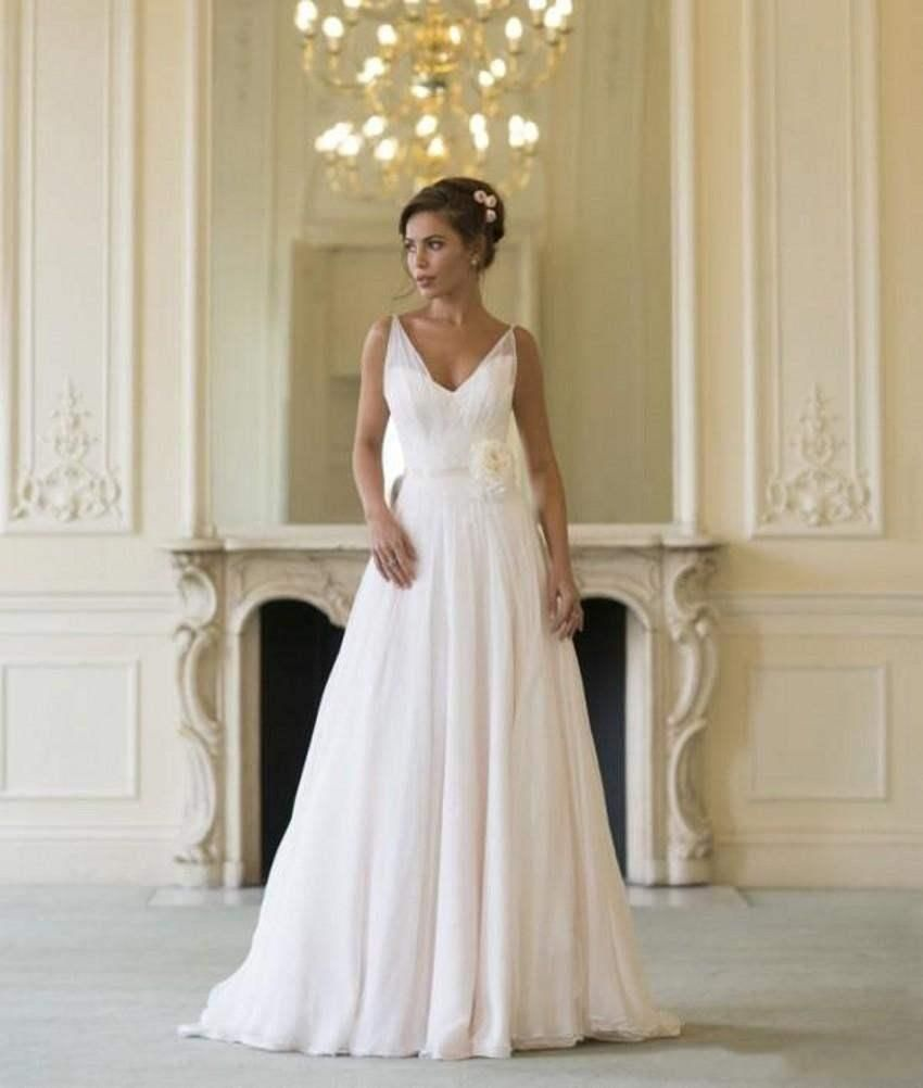 Click to buy ucuc grecian backless beach wedding dresses v neck