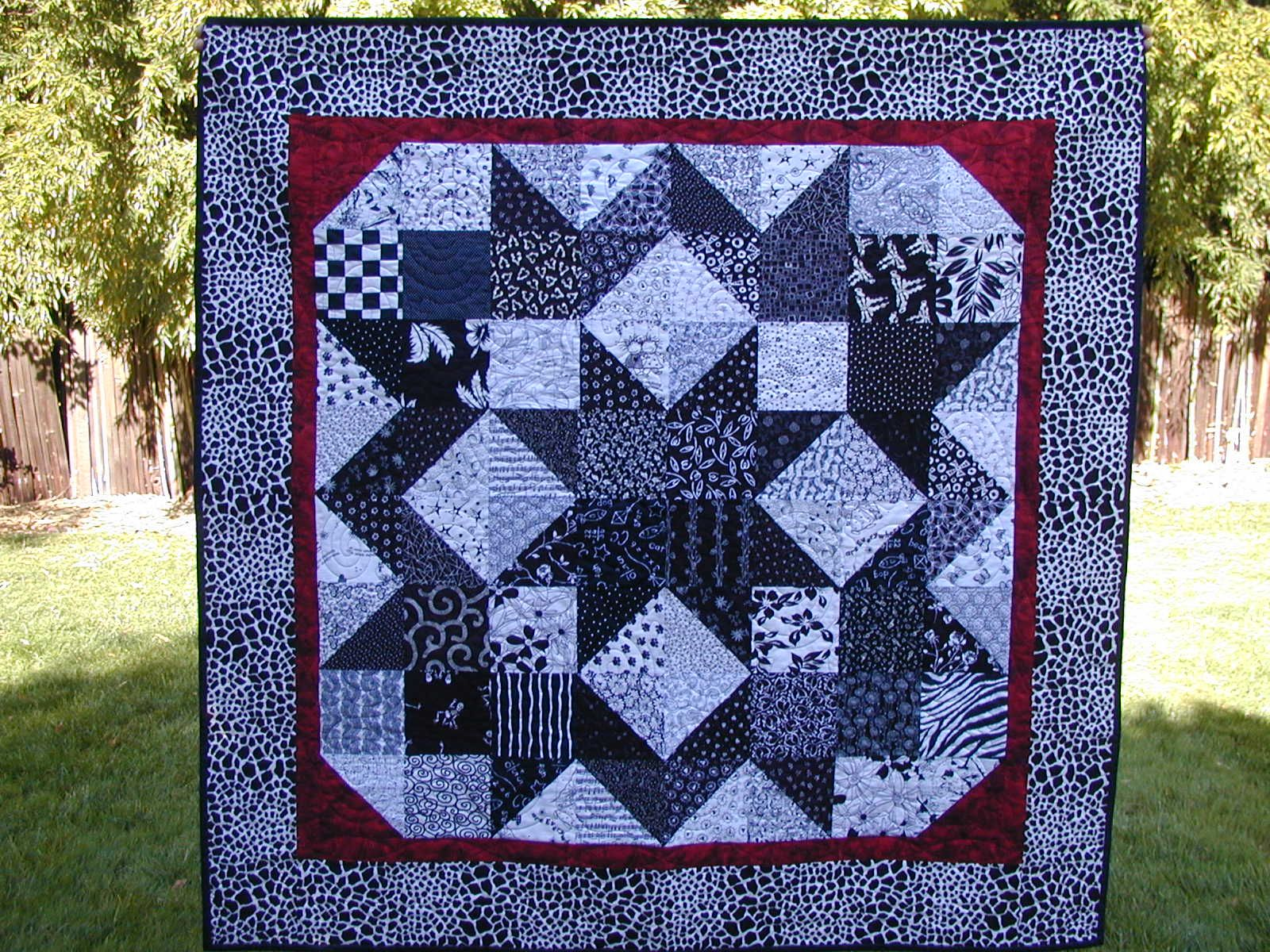 Red Black And White Quilt Patterns Quilts Misc Pinterest