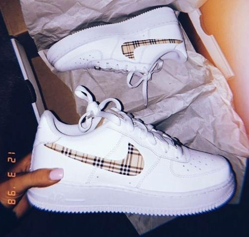 These custom Burberry Air forces are a need | Nike