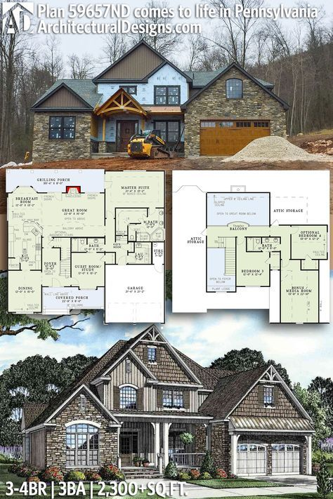 Architectural designs house plan nd comes to life in pennsylvania br ba sq ft of heated living space ready when you are also unique inviting plans rh pinterest