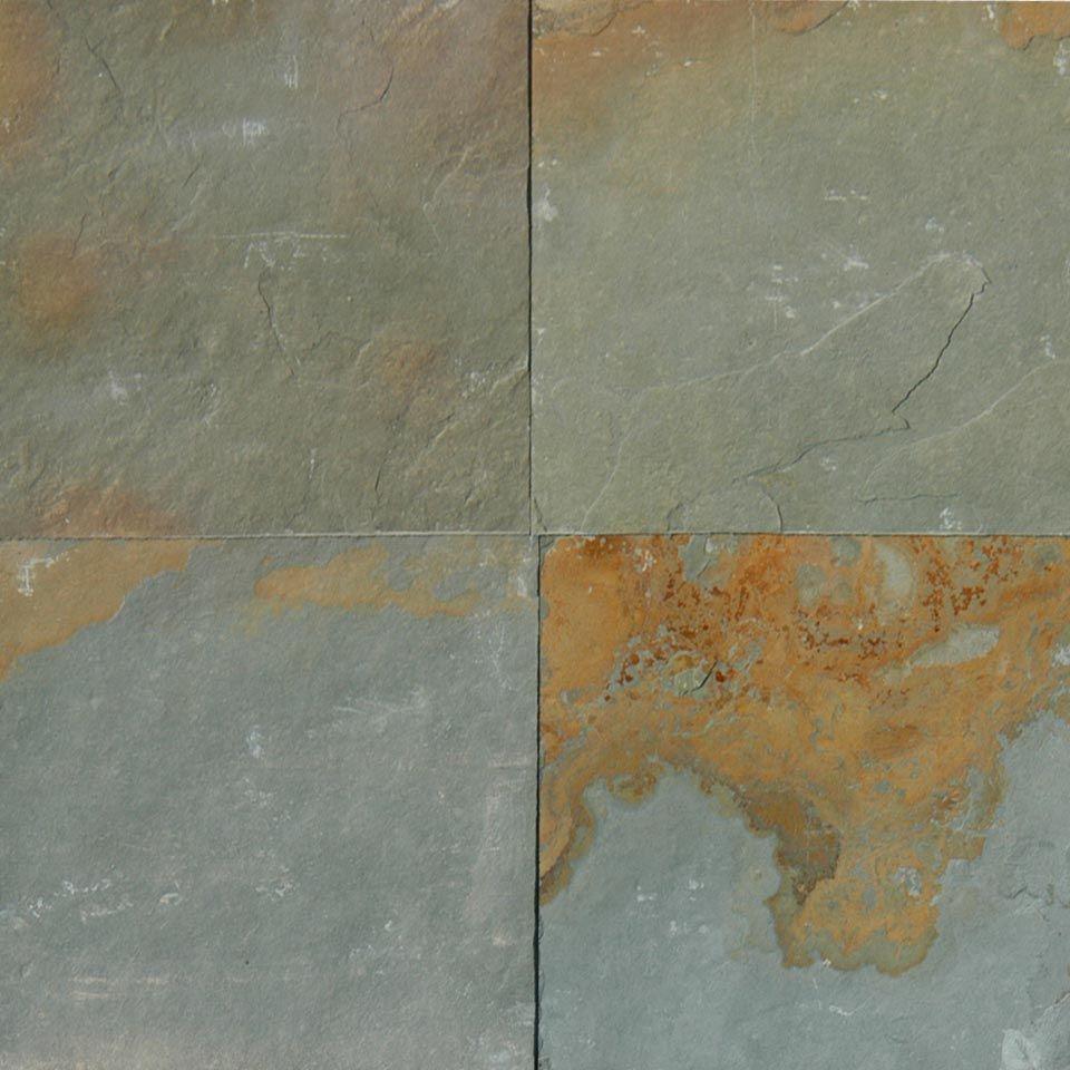 Slate Tile Patterns Primary Colors Green Orange Cw