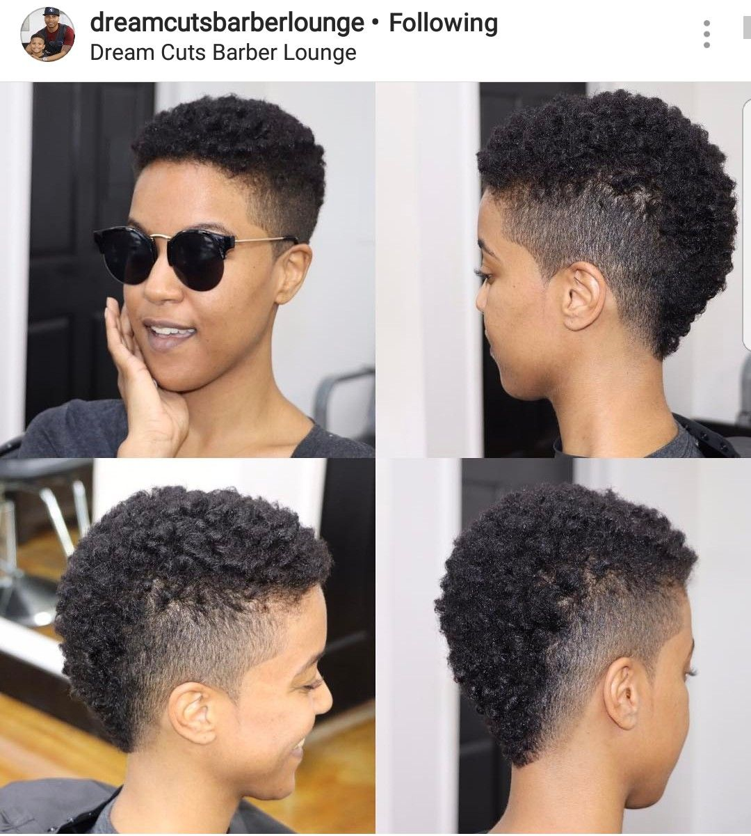 Nice and easy mohawk on natural hair hair devine cutcolorstyle
