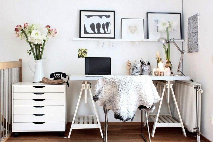 Comment meubler et décorer un bureau scandinave blanc et