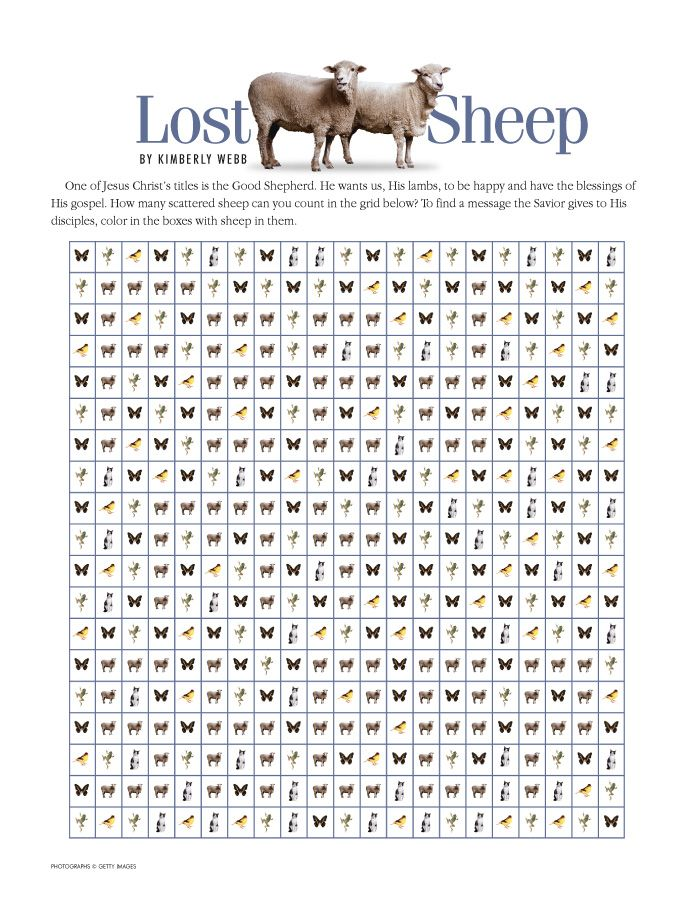 lost sheep parable coloring pages - photo#35