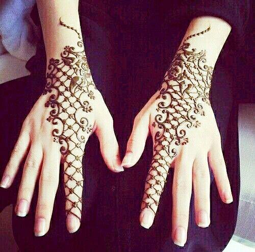 Mehndi Front Finger Design : Lovely on the hand and one finger henna pinterest