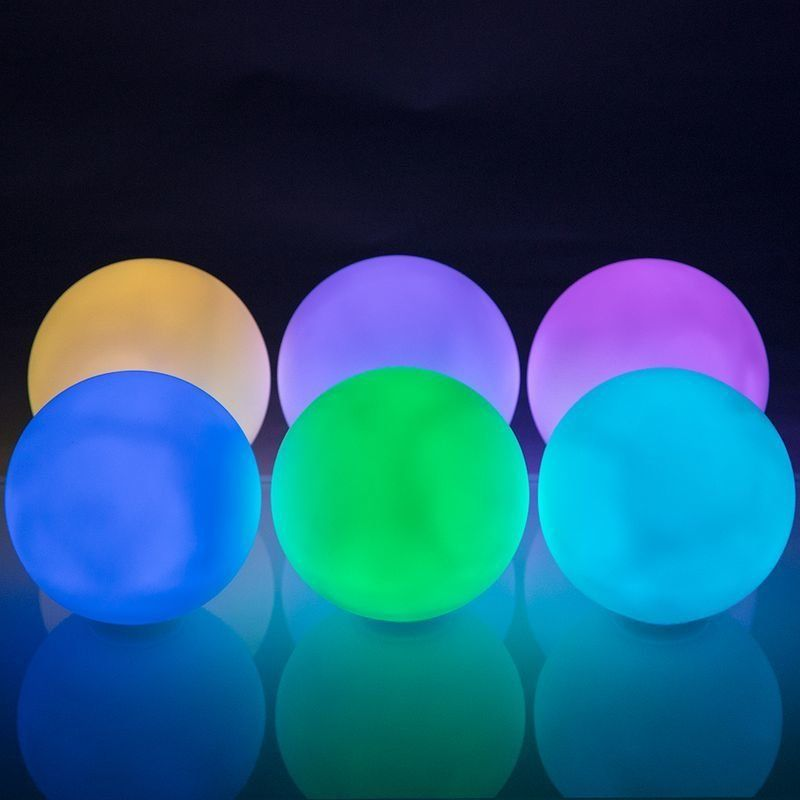 Led Round Ball Decor Lamp 9 Mode Multi Color Led Color Changing Lights Waterproof Led Rainbow Light