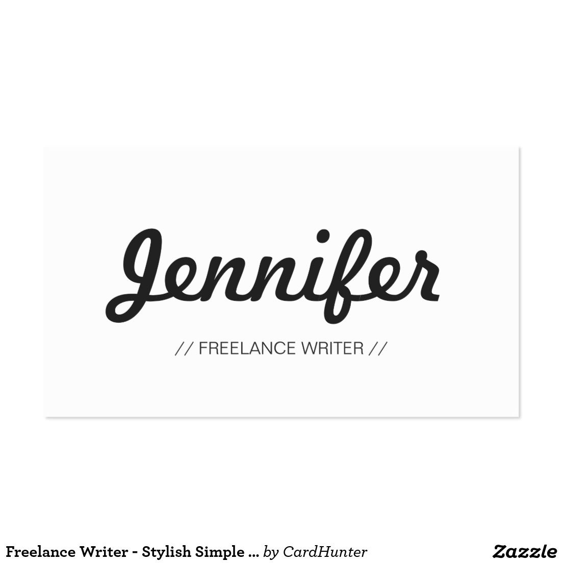 Freelance Writer - Stylish Simple Concise Business Card | Business ...