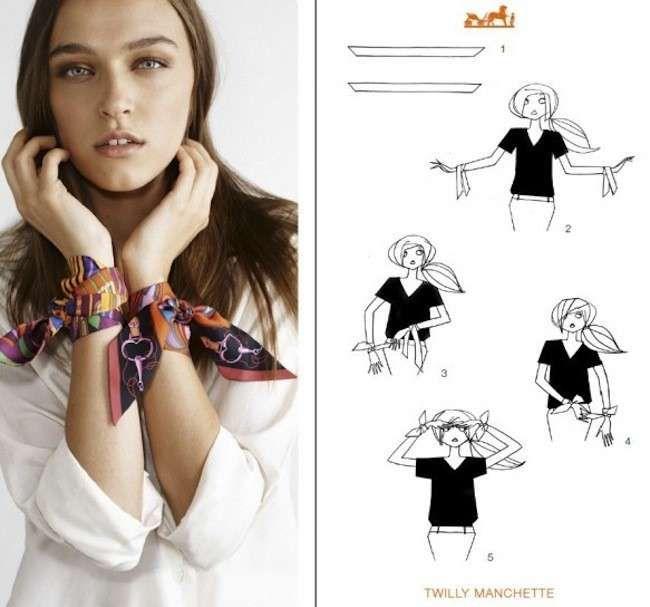 Risultati immagini per hermes foulard come indossare   Fashion ... a1edd4cb520