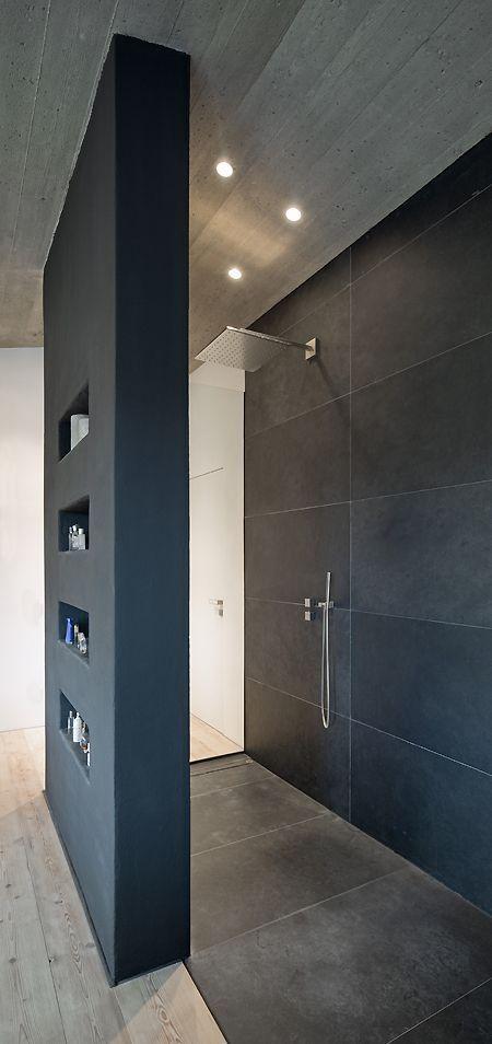 Wohnhaus Stallwang: Offene Dusche – # Speicher # Dusche #Open #Stallwang #Wo …