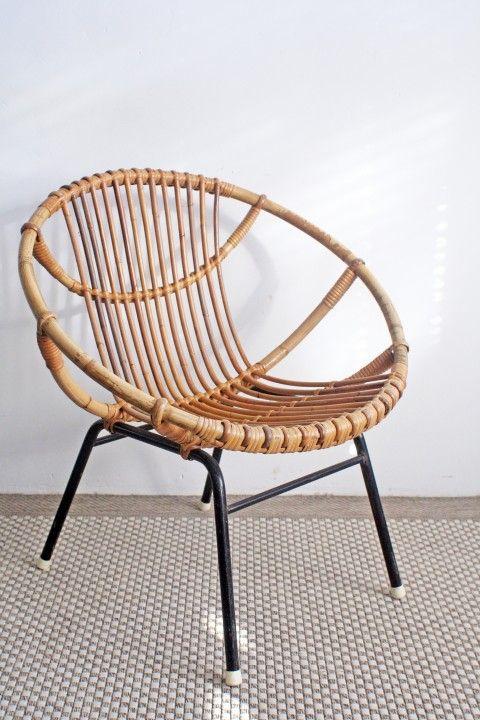 Vintage Rohe Stoel.Vintage Rotan Stoel Rohe Noordwolde Soekis Furniture Rotan