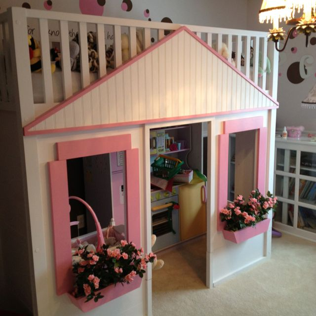 Playhouse Bed For The Kids Cool Kids Rooms Playhouse