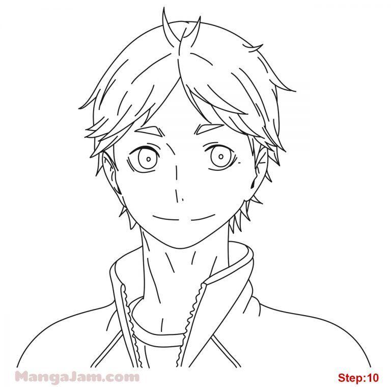 How to draw koshi sugawara from haikyuu in 2020 drawings