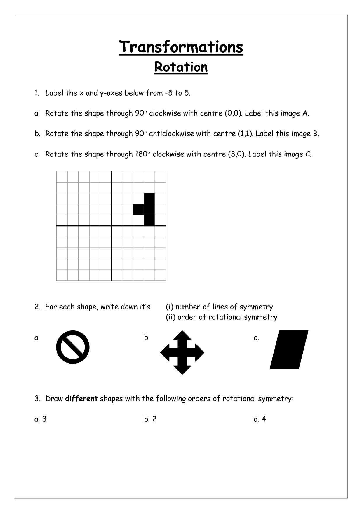 Axis Of Symmetry Worksheet   Printable Worksheets and Activities for  Teachers [ 1754 x 1240 Pixel ]
