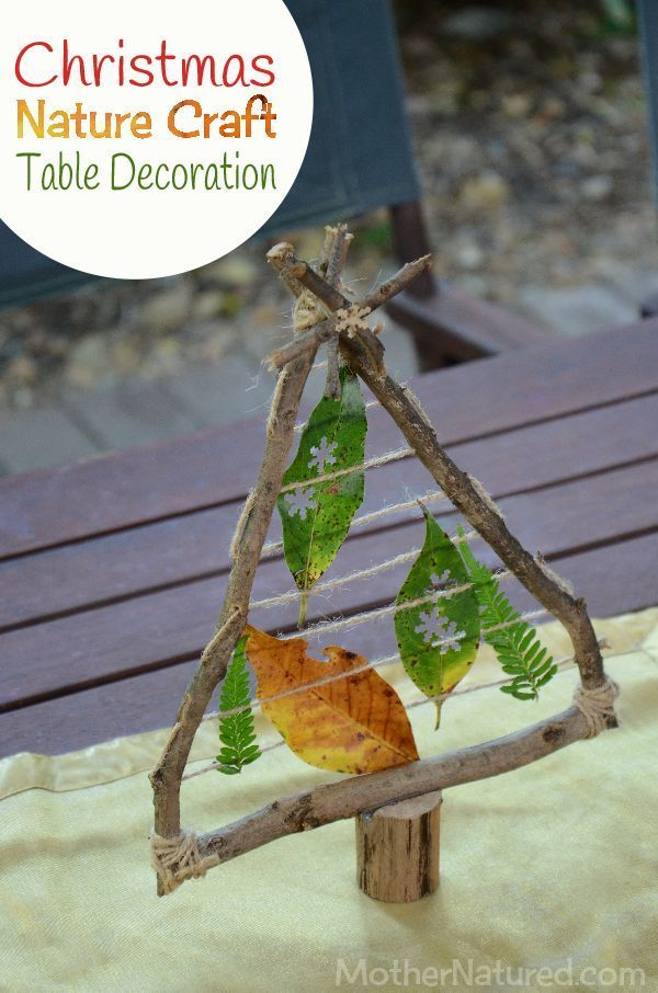 A Christmas Nature Craft Table Decoration You Ll Love Adding To Your