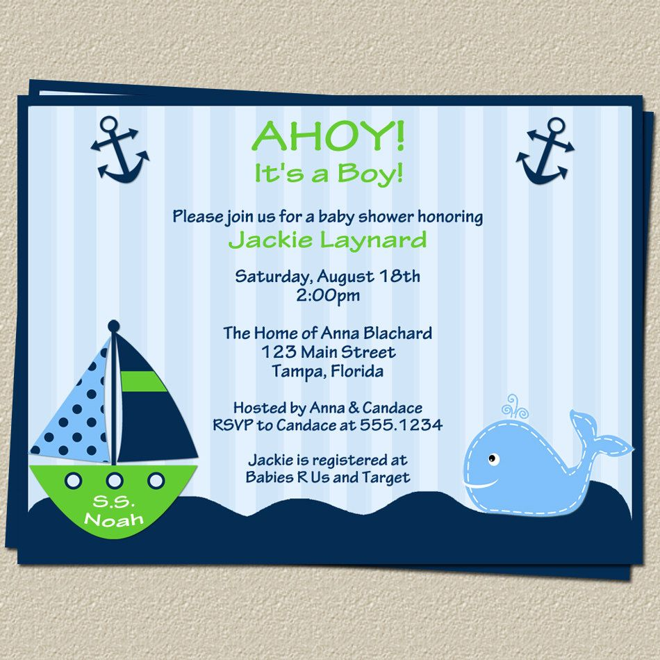 1000+ images about Impressive Nautical Baby Shower Invitations ...