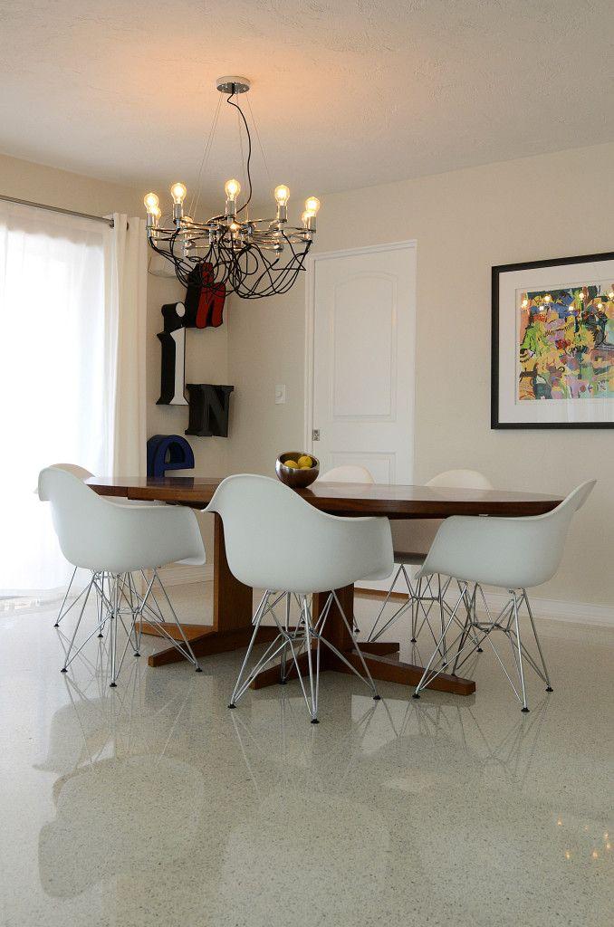 Elegant Vintage Interior Design, Mid Century Modern Interior Design, White And  Chrome Interior Design, St.