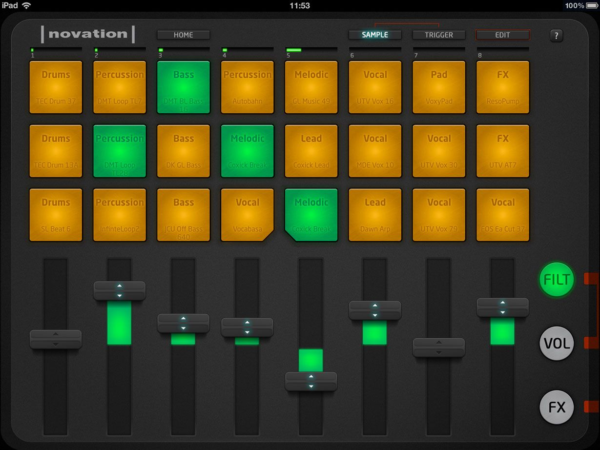 The Novation Launchpad for iPad is a music performance app